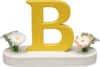 634/23/B, Letter B, with Flowers