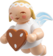 6307/150, Suspended Angel, Small with Gingerbread Heart
