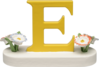 634/23/E, Letter E, with Flowers