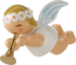 6307/3, Little Suspended Angel with Small Trumpet
