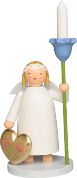 634/5/K, Marguerite Angel with Heart and Flower, with wooden Candle