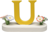 634/23/U, Letter U, with Flowers