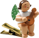 650/90/4, Angel with Mandolin, on Clip