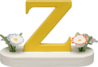 634/23/Z, Letter Z, with Flowers