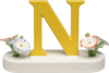 634/23/N, Letter N, with Flowers