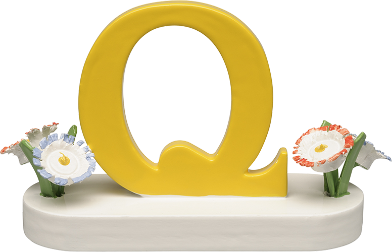 Letter Q, with Flowers