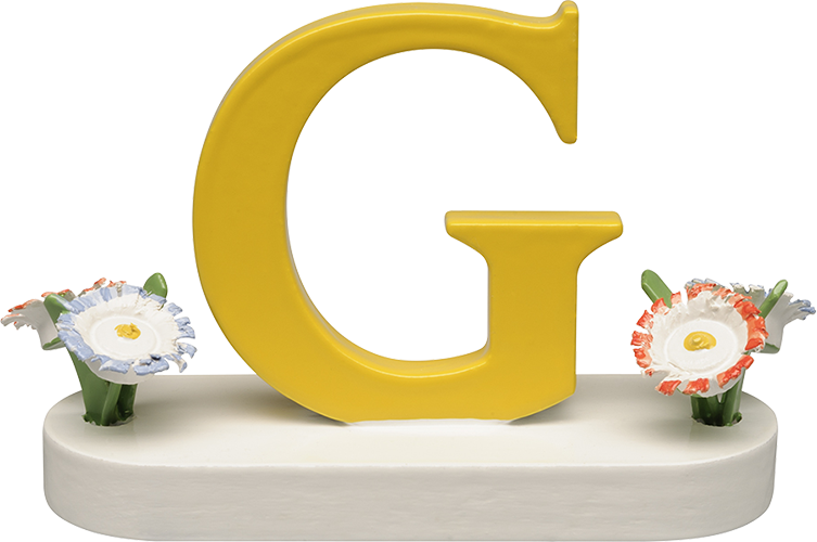 Letter G, with Flowers