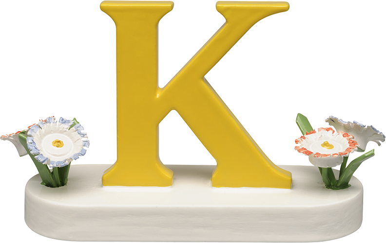 Letter K, with Flowers