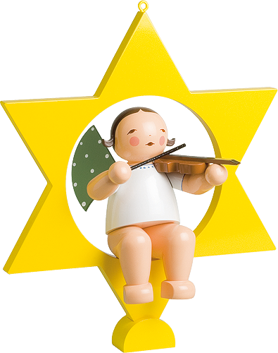 Angel with Violin, in Star, Large
