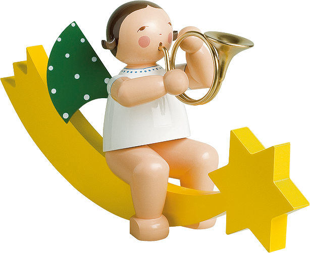 Angel with French Horn, on Comet Tail, Large