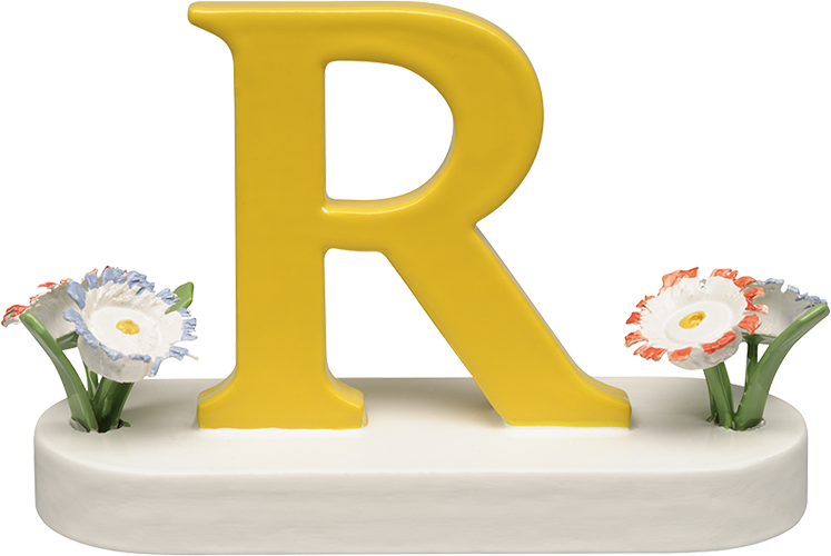 Letter R, with Flowers